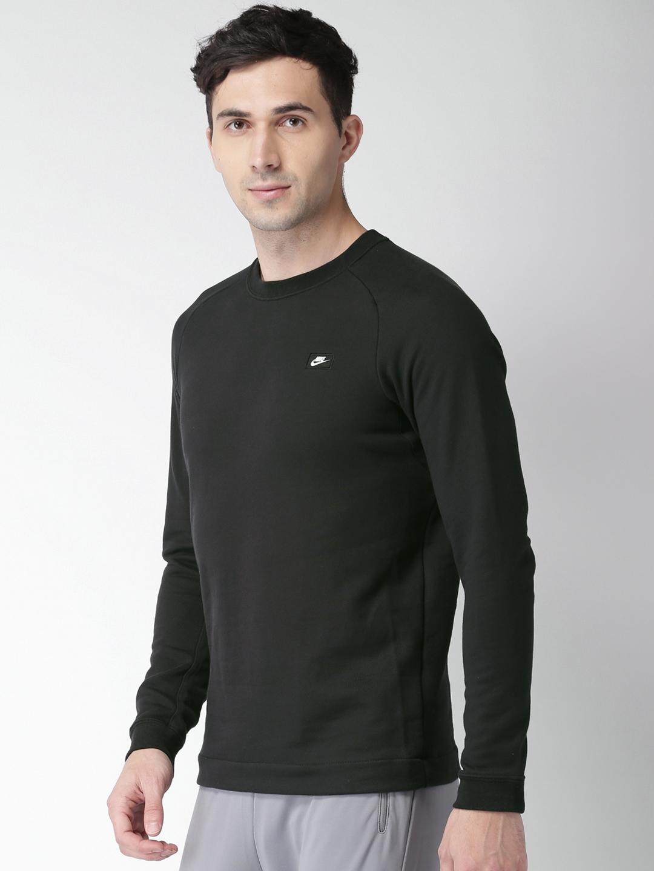 1c4dd5357 Buy Nike Men Black Solid AS M NSW MODERN CRW FT Sweatshirt ...
