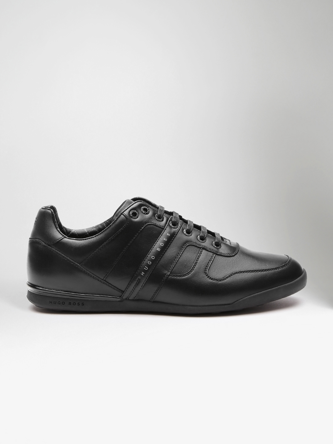 4a71eed29ba Buy BOSS Green Men Black Leather Sneakers - Casual Shoes for Men ...