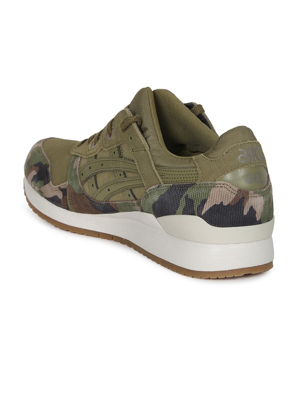 b4f6b82fc932 Buy ASICS Tiger Unisex Olive Green GEL LYTE III Sneakers - Casual ...