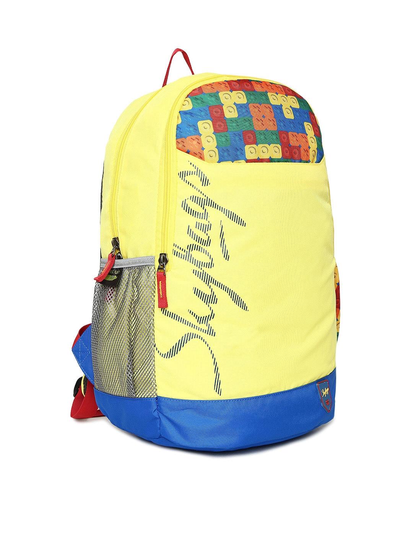 770980972b9b Buy Skybags Unisex Yellow   Blue Geometric Print CAMEO SCHOOL ...