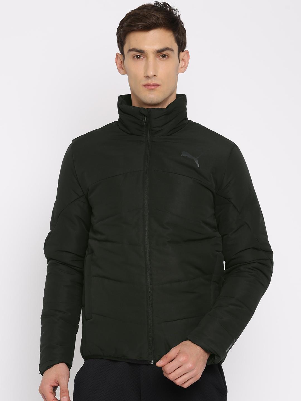4432d816526b Buy Puma Men Black Solid ESS Padded Jacket - Jackets for Men 2201635 ...