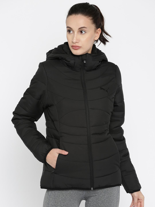 0531d4a90 Buy Puma Women Black Ess 400 Hooded Down W Padded Jacket - Jackets ...