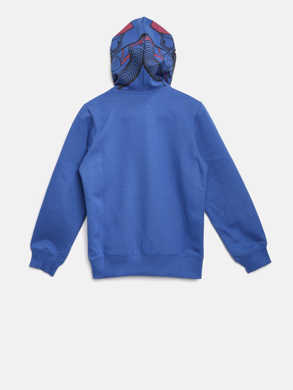 d99deec689ad Buy United Colors Of Benetton Boys Blue Solid Hooded Sweatshirt ...