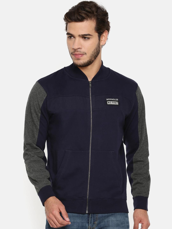 Wrangler Men Navy Solid Sweatshirt
