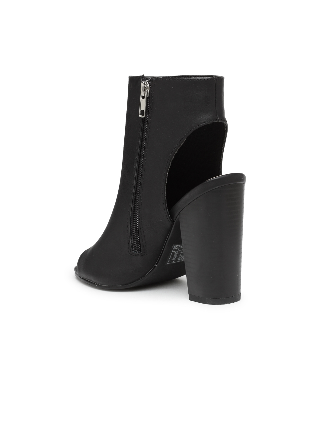 8392539e6c9b Buy FOREVER 21 Women Black Solid Heeled Boots - Heels for Women ...