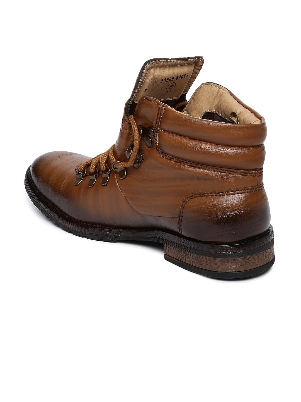 50952336e6d Buy Alberto Torresi Men Tan Brown Flat Boots - Casual Shoes for Men ...