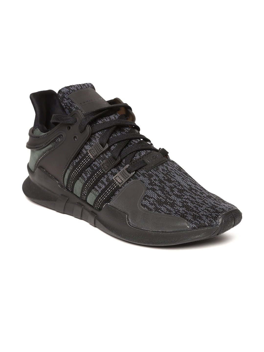 06b2548feb28e2 ADIDAS Originals Men Black EQT Support Advance Woven Design Sneakers