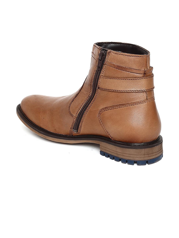 7bf6de0ba3dd59 Buy Alberto Torresi Men Tan Brown Leather High Top Flat Boots ...