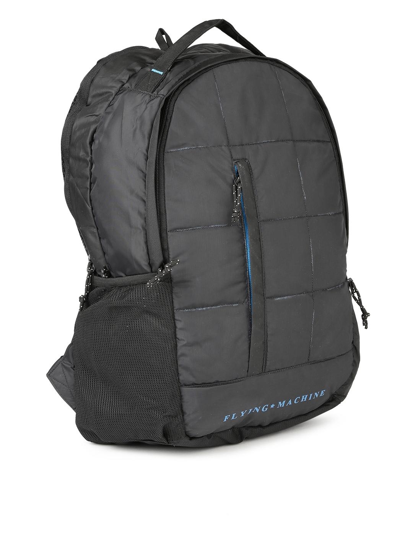 313fc37573fa Buy Flying Machine Men Black Brand Logo Backpack - Backpacks for Men ...