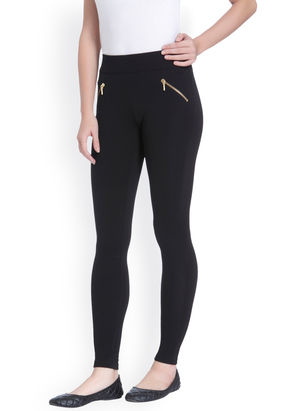 ba2c8594e4c123 Buy ONLY Women Black Treggings - Jeggings for Women 2214740 | Myntra