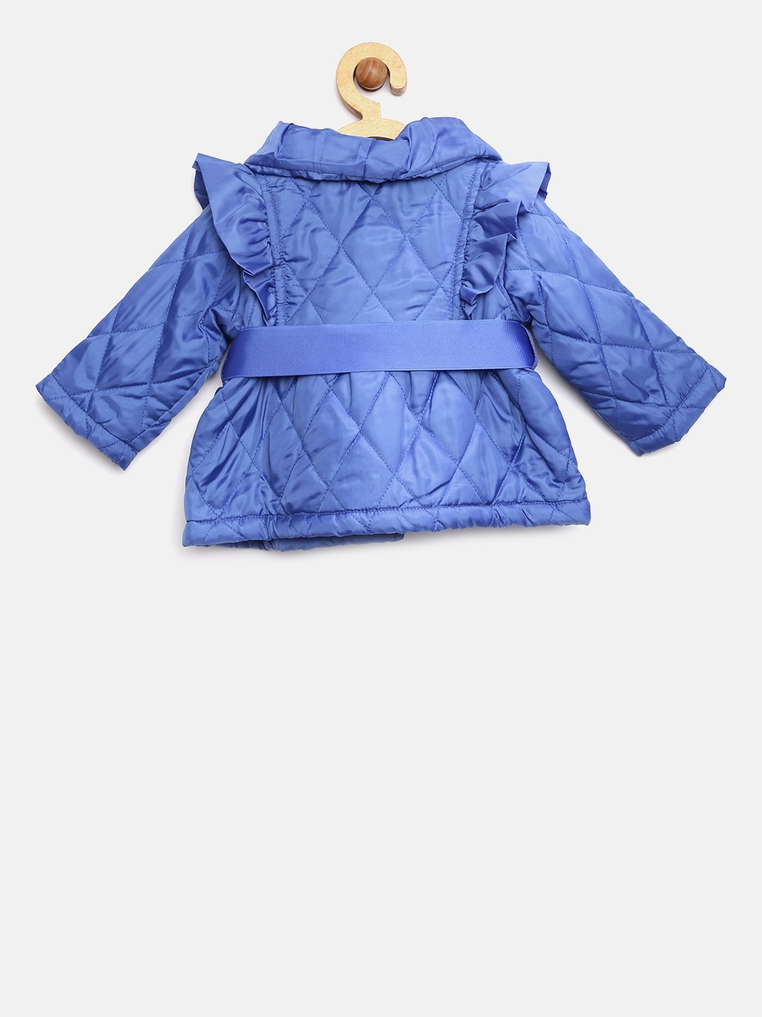 2a7a726a91f6 Buy Nauti Nati Girls Blue Solid Quilted Jacket - Jackets for Girls ...