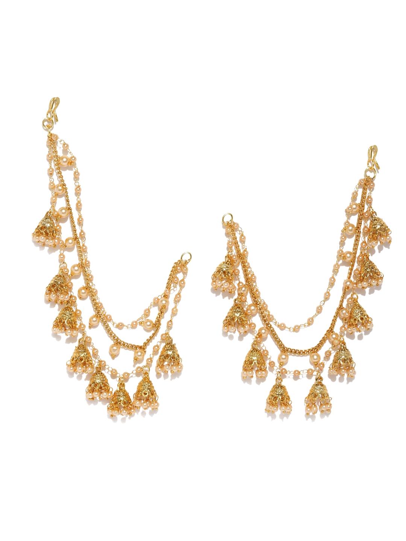7af6f37b7f90a Earring Chains Long Gold Chain Earrings Designs Fashion Dangle ...