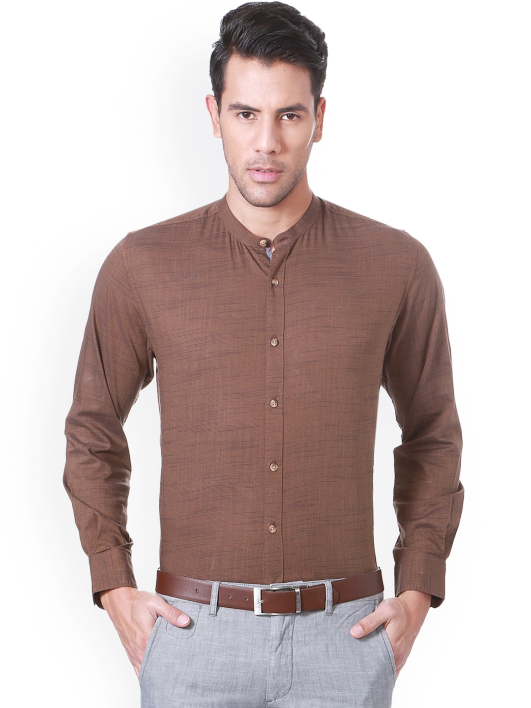 Mens Red Timber Washed Slim Fit Shirt Jacket Retro Smart Casual Genuine Leather