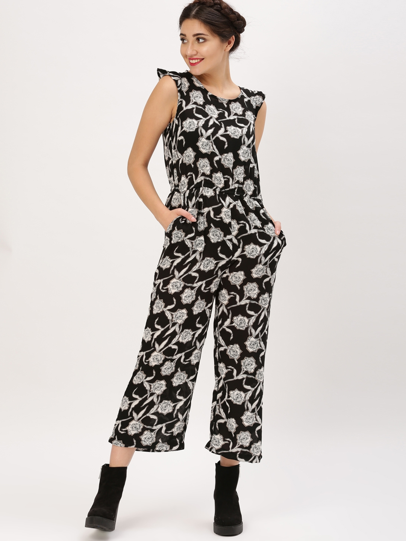 1e8c01bfa32 Buy DressBerry Black   White Printed Basic Jumpsuit - Jumpsuit for ...