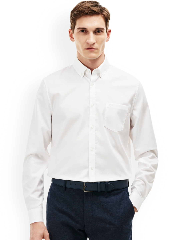 1fd7211eea Lacoste Men White Regular Fit Solid Semiformal Shirt