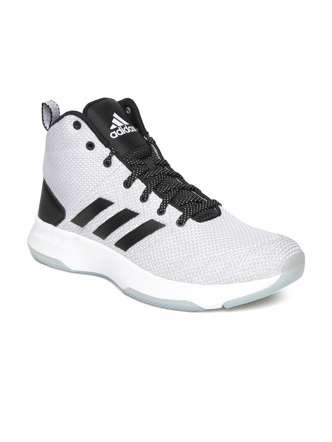 the latest f5991 c260a ADIDAS NEO Men Grey Solid Mesh Mid-Top Sneakers