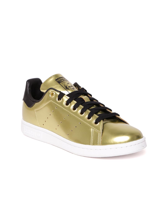 e0d7438a5b4e Buy ADIDAS Originals Women Gold Toned Stan Smith Sneakers - Casual ...