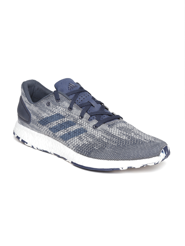 d411032e8 Buy ADIDAS Men Blue   Off White Pureboost DPR Running Shoes - Sports ...
