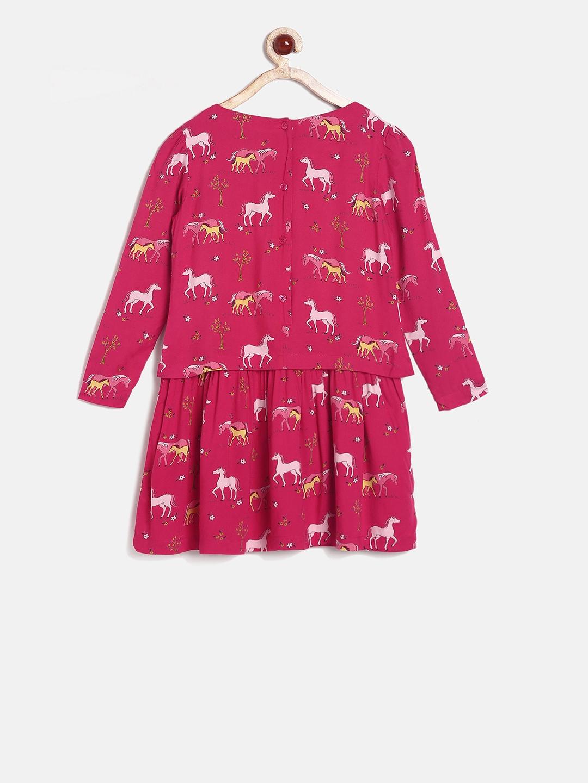 huge selection of 03872 0e1ee Buy U.S. Polo Assn. Kids Girls Pink Printed Drop Waist Dress ...