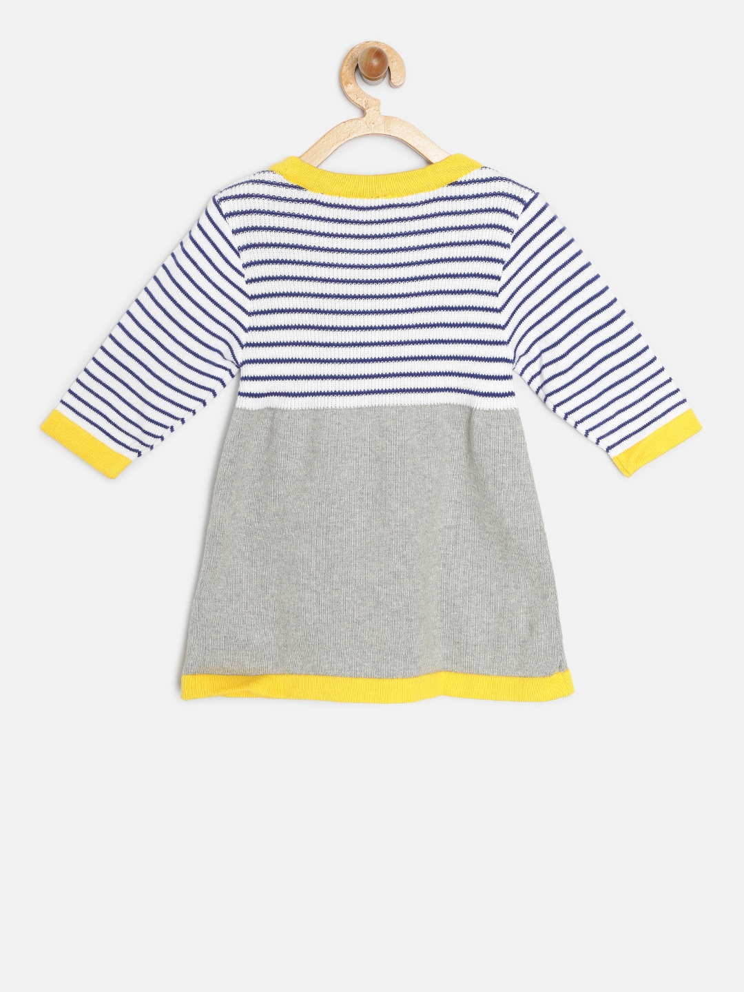f095c7ada2fb Buy Blue Giraffe Girls Grey   Off White Striped Sweater Dress ...