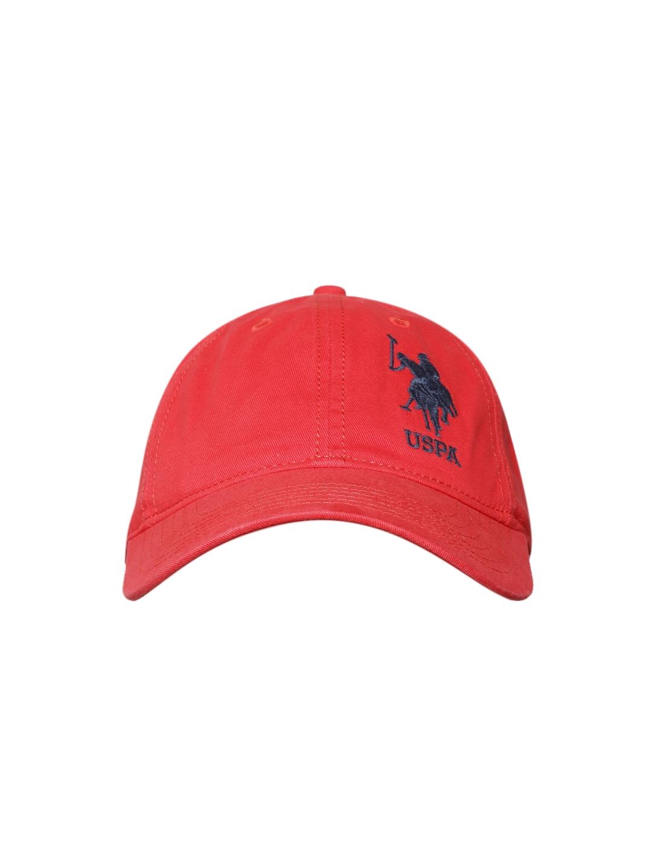 4da49d8890f Buy U.S. Polo Assn. Men Red Solid Baseball Cap - Caps for Men ...