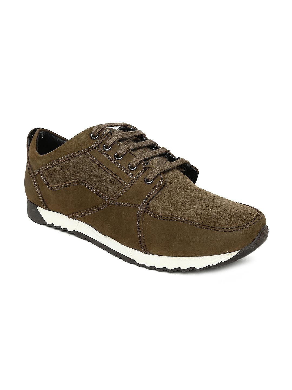 1fa7351e9c Buy Bata Men Olive Green ARCHER Sneakers - Casual Shoes for Men ...