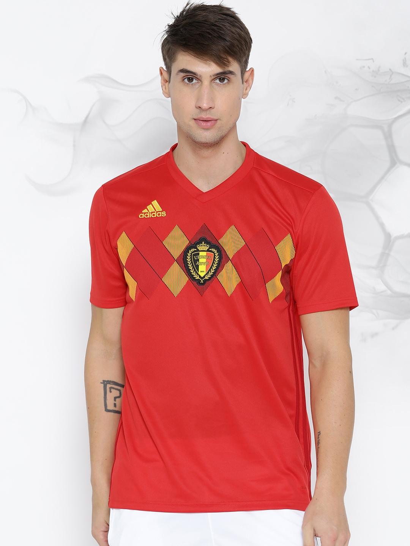 ffb4b41877e Buy ADIDAS Men Red Printed Royal Belgian FA Stadium Home Football ...