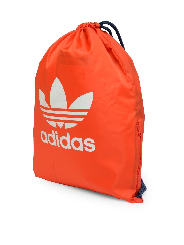 ADIDAS Originals Unisex Orange Gymsack Trefoil Brand Logo Backpack 43f8cdff9184c