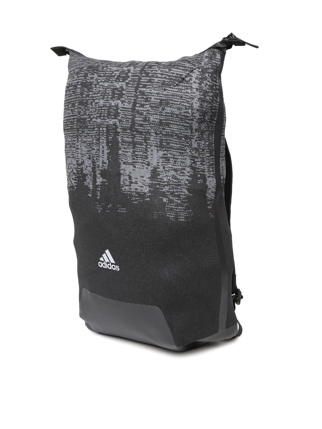 9205d4c3f1c4 Buy ADIDAS Unisex Black   Grey Icon Knitted Printed Backpack ...