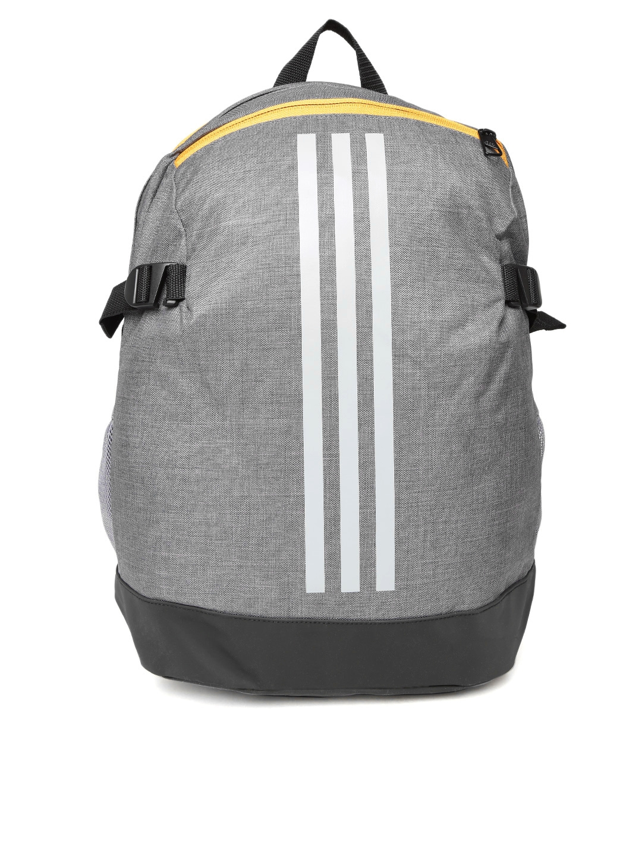 Buy ADIDAS Unisex Grey Power IV MF1 Brand Logo Backpack - Backpacks ... 577ab4aed3