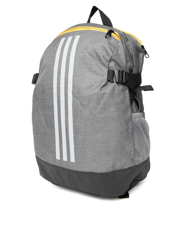 7a797acd6827 Buy ADIDAS Unisex Grey Power IV MF1 Brand Logo Backpack - Backpacks ...