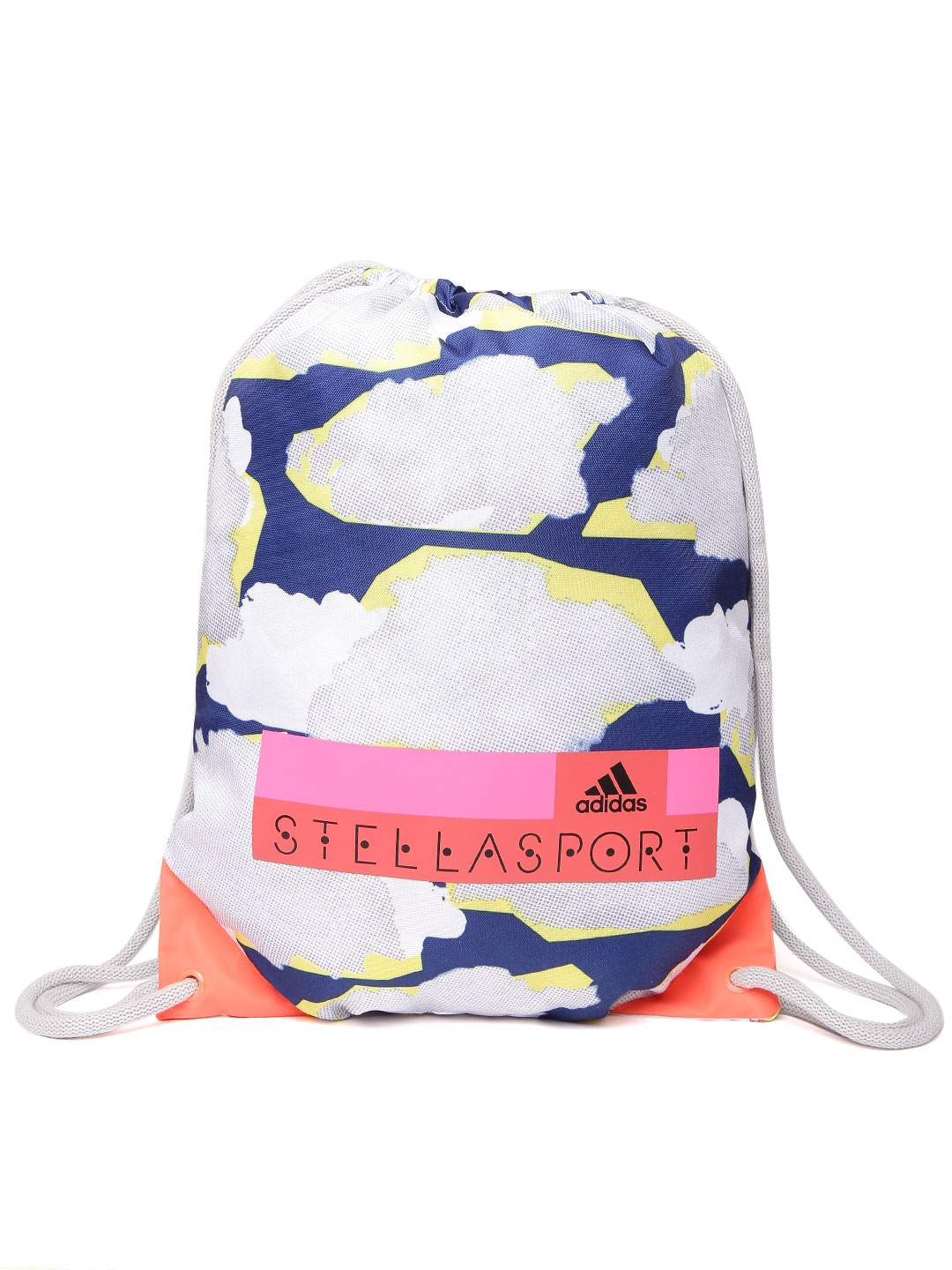 Stellasport by ADIDAS Women Off-White   Blue SC Gymbag Printed Backpack fd0e35fb49295