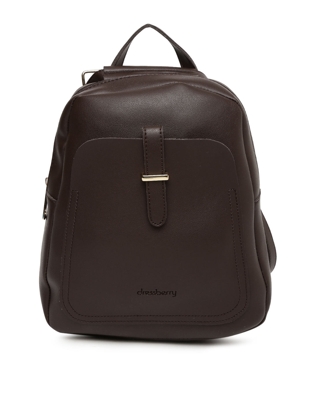 a6311291af Buy DressBerry Women Coffee Brown Solid Backpack - Backpacks for ...