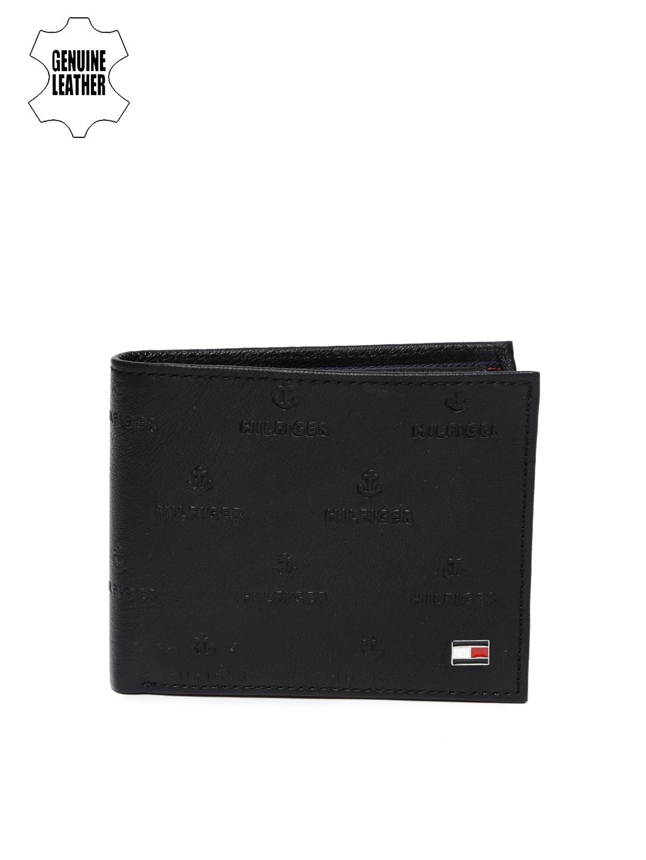 Tommy Hilfiger Men Black Two Fold Leather Wallet