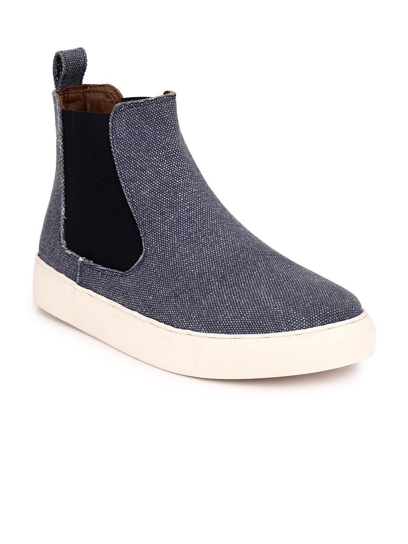 3ff8c1768b6d21 Buy Guava Men Blue Chelsea Boots - Casual Shoes for Men 2242615   Myntra