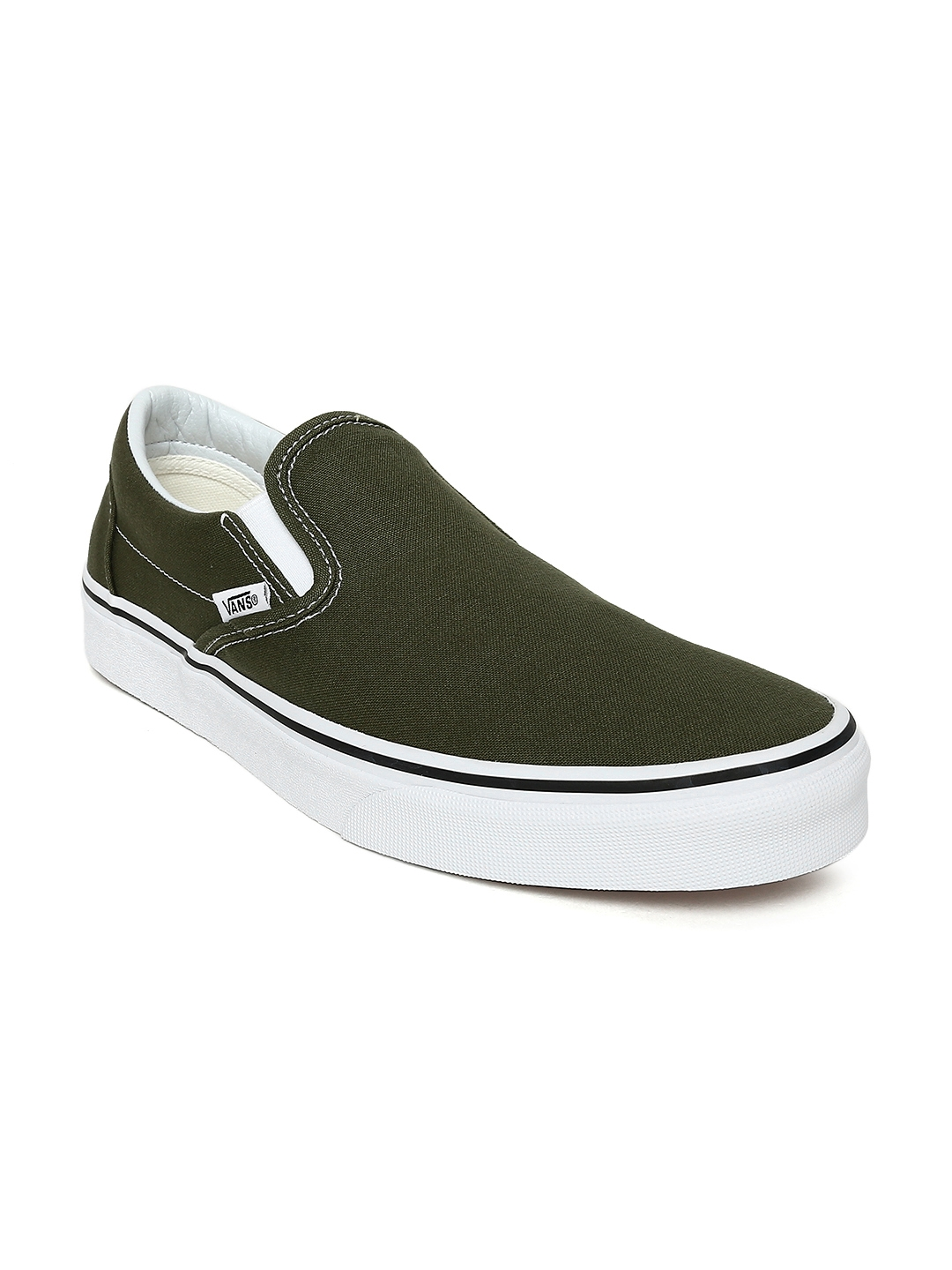 264fe06eb3 Buy Vans Unisex Olive Green Classic Slip On Sneakers - Casual Shoes ...