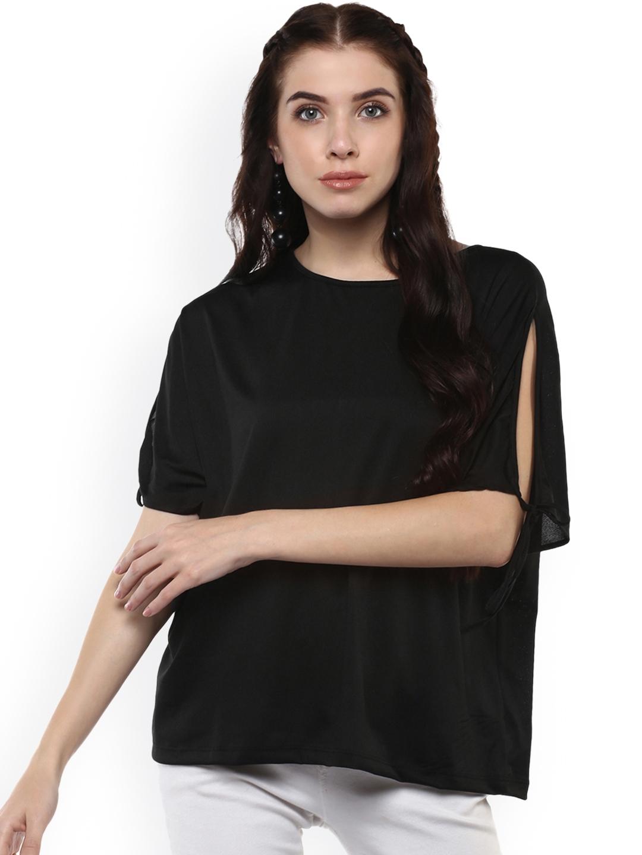 Harpa Women Black Solid Top
