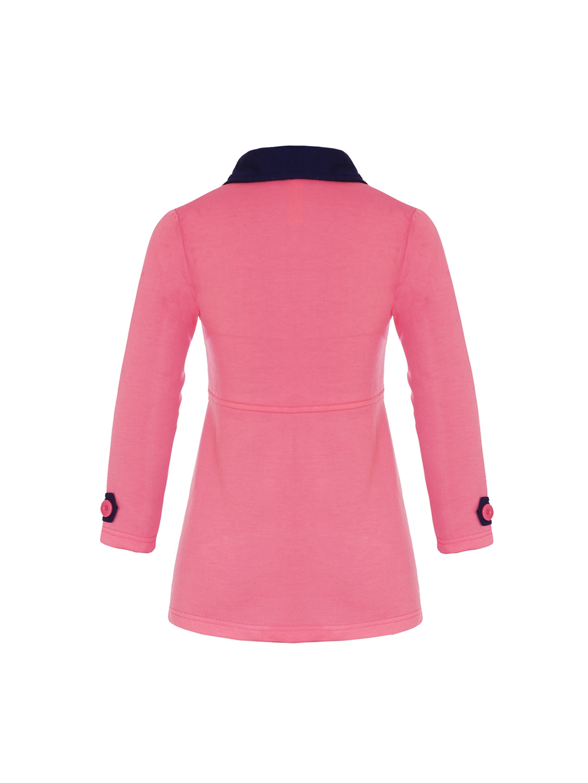b90e684c6 Buy Naughty Ninos Girls Pink Pea Coat - Coats for Girls 2244281 | Myntra