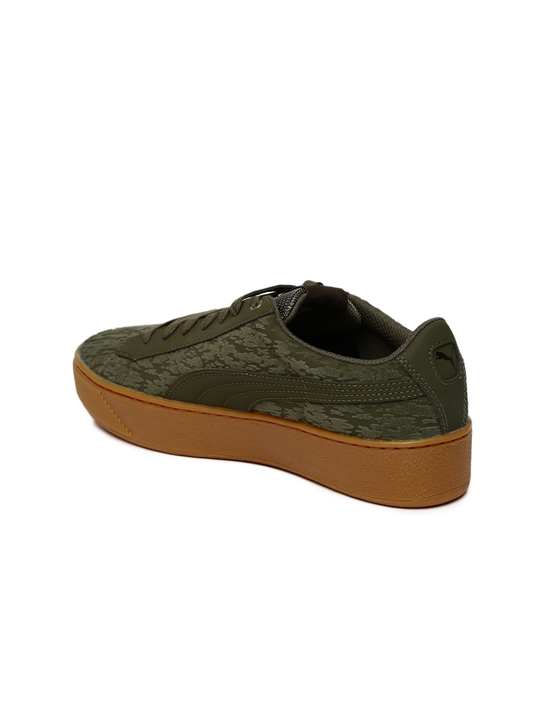 f0321f1a5626 Buy Puma Women Olive Green Vikky Platform VR Sneakers - Casual Shoes ...