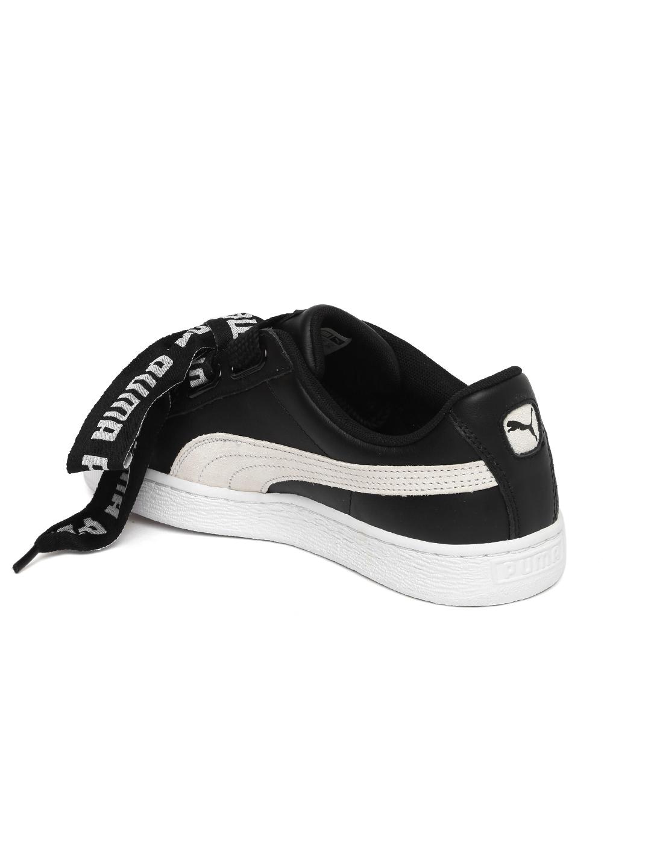 84b2bbd682f6 Buy Puma Women Black Basket Heart DE Leather Sneakers - Casual Shoes ...