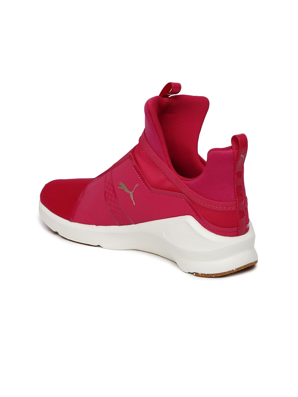 Buy Puma Women Pink Fierce VR Mid Top Training Shoes - Sports Shoes ... 24f908e1a