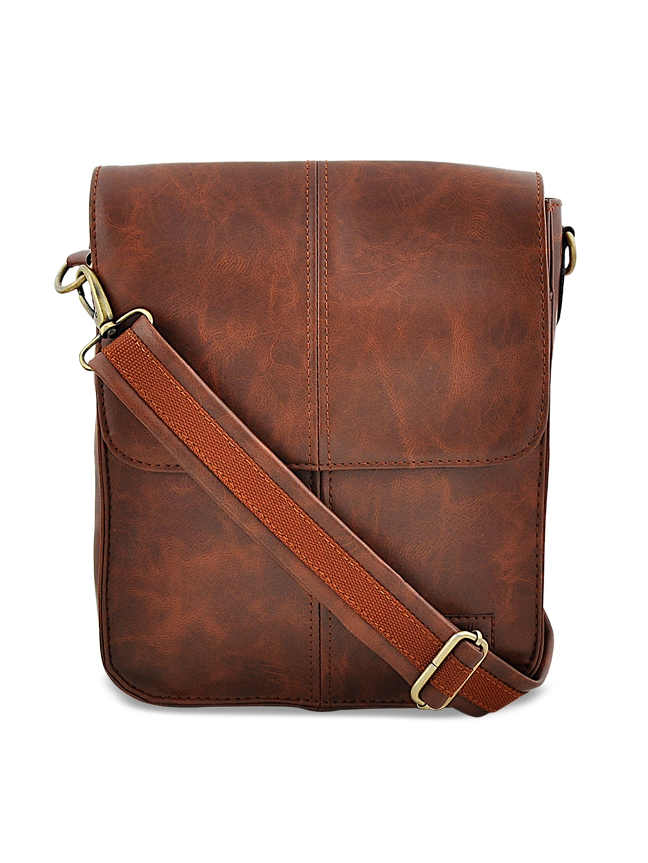 yelloe Men Brown Messenger Bag