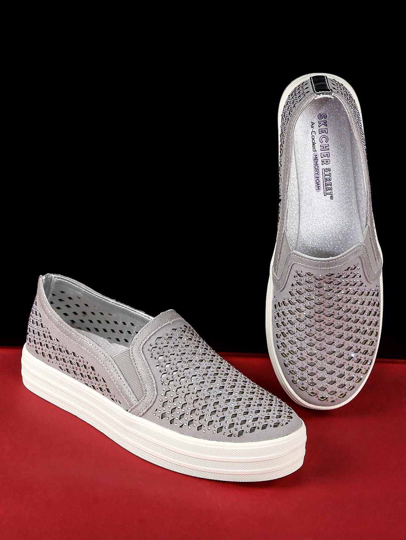 0831e655417b Buy Skechers Women Grey Embellished DOUBLE UP DIAMOND GIRL Sneakers ...