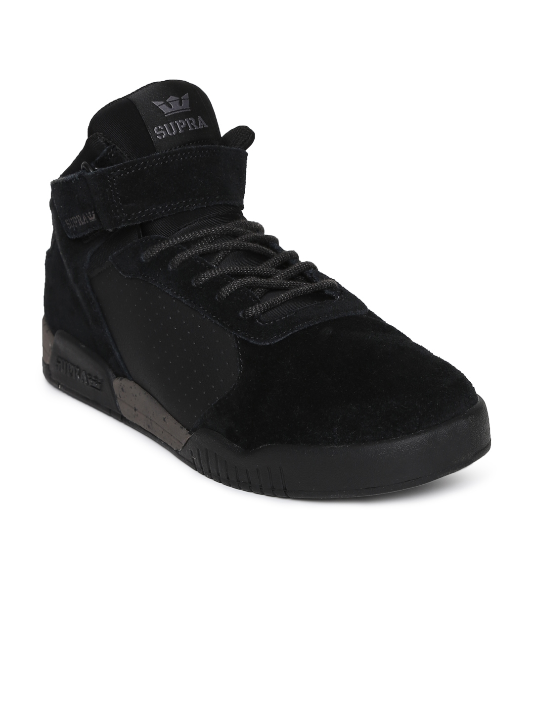 8d8670335efd Buy Supra Men Black ELLINGTON STRAP Suede Sneakers - Casual Shoes ...