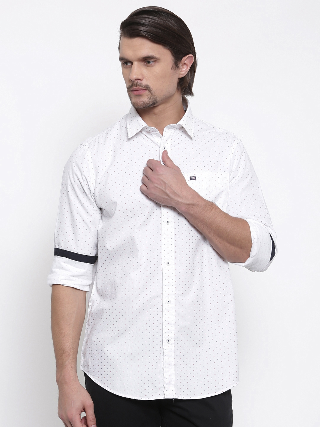Arrow Sport Men White Sport Slim Fit Printed Casual Shirt