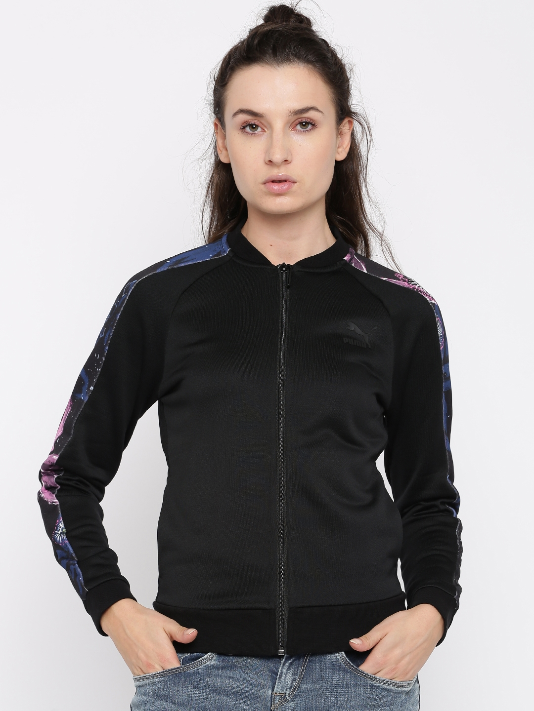 dd675b3be58d Buy Puma Women Black Solid Archive T7 Track Sporty Jacket - Jackets ...