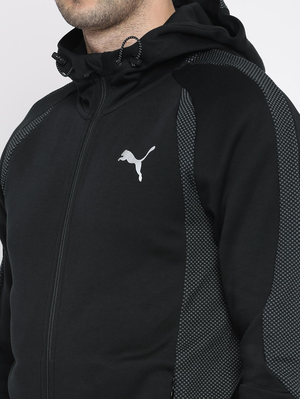 12feaab3faf1 Buy Puma Men Black Solid Evostripe Ultimate FZ Sporty Jacket ...