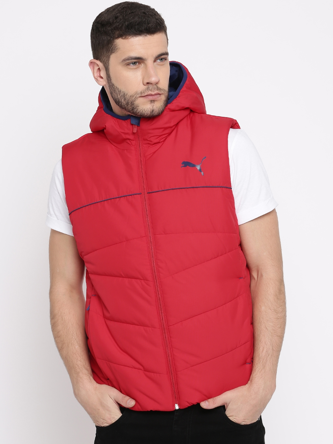 536d9868635a Buy Puma Men Red Solid Padded Hooded Jacket - Jackets for Men ...