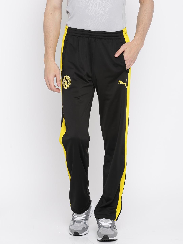 63a2585c187d Buy Puma Black BVB T7 Track Pants - Track Pants for Men 2252786