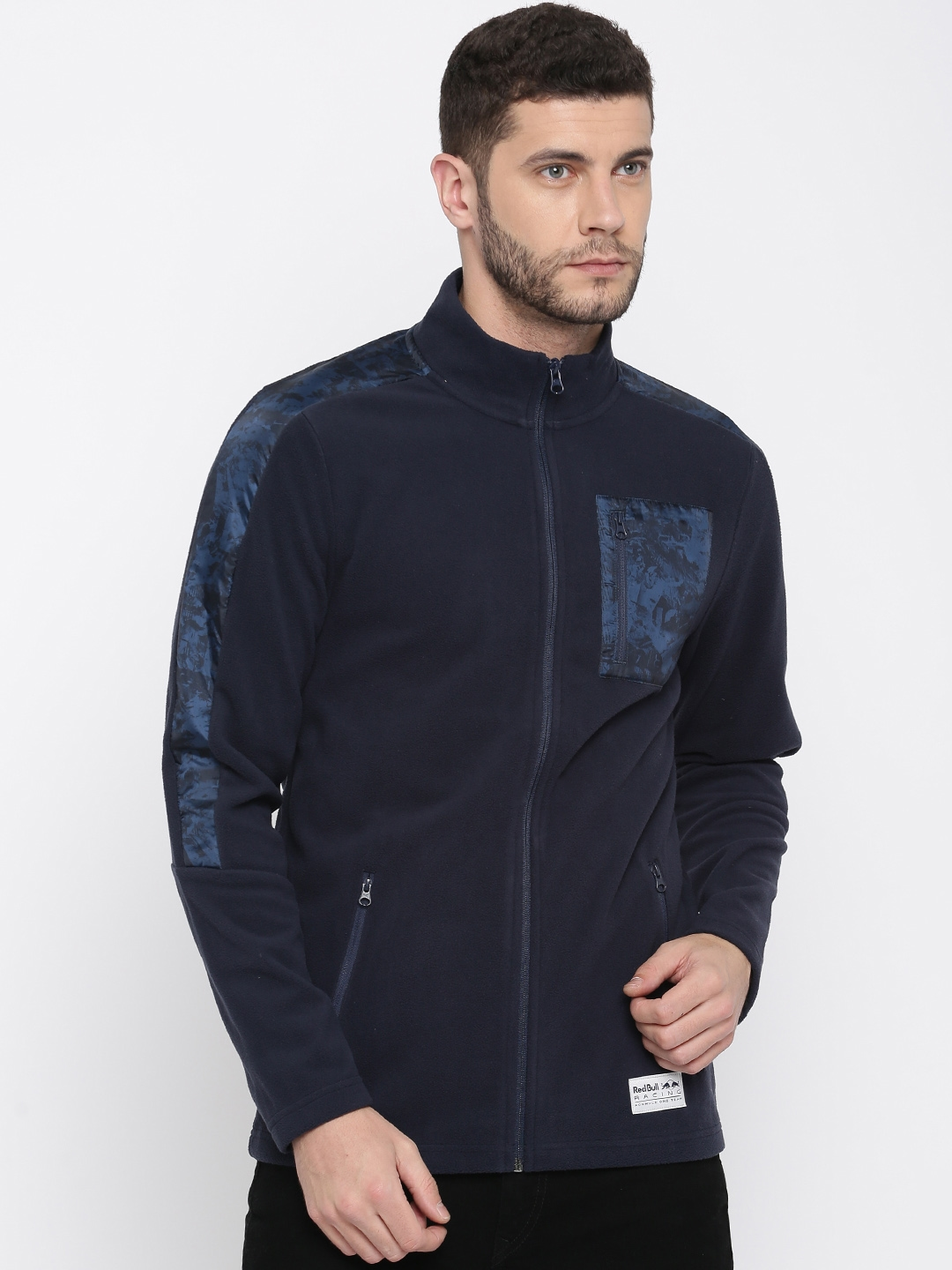 2eda51ea8fb7 Buy Puma Men Navy Blue Solid RBR T7 Track Sporty Jacket - Jackets ...